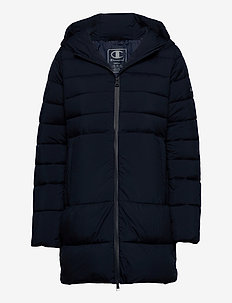 Hooded Polyfilled Jacket - parkas - sky captain