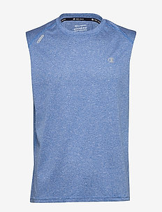 Crewneck Sleeveless T'Shirt - COBALT BLUE