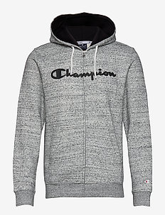 Hooded Full Zip Sweatshirt - GREY MELANGE  LIGHT