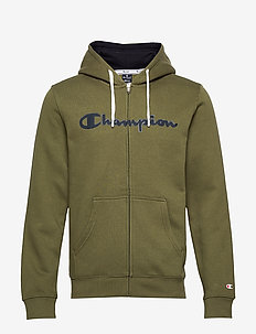 Hooded Full Zip Sweatshirt - WINTER MOSS