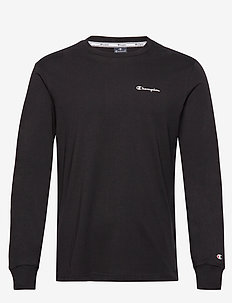 Long Sleeve Crewneck T-Shirt - BLACK BEAUTY