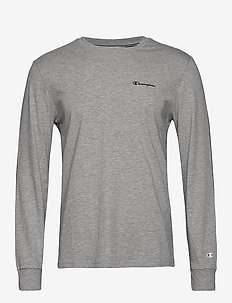 Long Sleeve Crewneck T-Shirt - GRAY MELANGE LIGHT