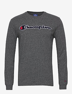 Crewneck Long Sleeve T-Shirt - GRAY MELANGE DARK