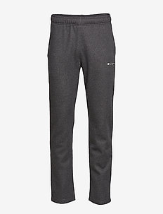 Straight Hem Pants - GRAY MELANGE DARK
