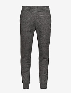 Rib Cuff Pants - GRAY MELANGE DARK