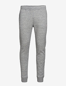 Rib Cuff Pants - GREY MELANGE  LIGHT