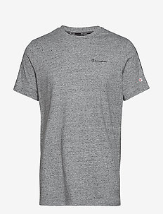 Crewneck T-Shirt - GREY MELANGE  LIGHT