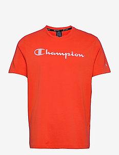 Crewneck T-Shirt - urheilutopit - mandarine red