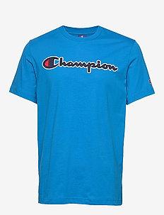 Crewneck T-Shirt - sports tops - blue aster