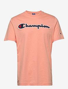 Crewneck T-Shirt - sportoberteile - coral pink