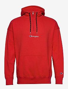Half Zip Hooded Sweatshirt - kapuzenpullover - flame scarlet
