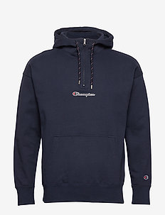 Half Zip Hooded Sweatshirt - NAVY BLAZER