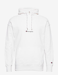 Half Zip Hooded Sweatshirt - WHITE