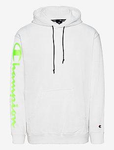 Hooded Sweatshirt - basic sweatshirts - white