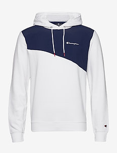 Hooded Sweatshirt - basic sweatshirts - white