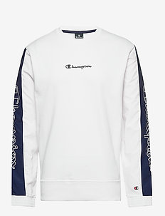 Crewneck Sweatshirt - basic sweatshirts - white