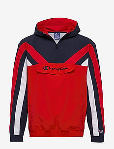 Hooded Half Zip Sweatshirt - bluzy z kapturem - flame scarlet