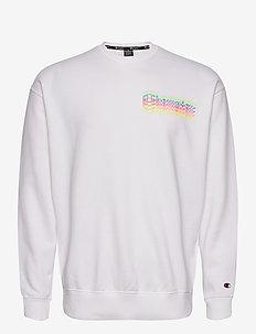 Crewneck Sweatshirt - basic sweatshirts - white