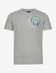 Crewneck T-Shirt - sportieve tops - gray melange light