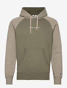 Hooded Sweatshirt - kapuzenpullover - dusty olive