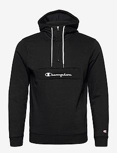 Hooded Half Zip Sweatshirt - pulls a capuche - black beauty