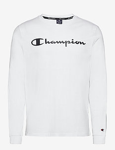 Crewneck Long Sleeve T-Shirt - pitkähihaiset topit - white