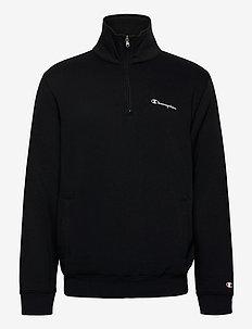 Half Zip Sweatshirt - basic sweatshirts - black beauty