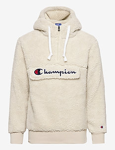 Hooded Half Zip Top - fleece - overcast