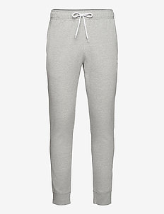 Rib Cuff Pants - treenihousut - gray melange light