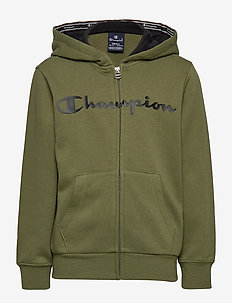 Hooded Full Zip Sweatshirt - WINTER MOSS