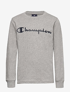 Crewneck Long Sleeve T-Shirt - GRAY MELANGE LIGHT