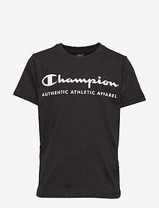 Crewneck T-Shirt - kurzärmelige - black beauty