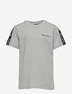 Crewneck T-Shirt - kurzärmelige - gray melange light