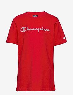 Crewneck T-Shirt - kortermede - high risk red