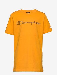 Crewneck T-Shirt - kurzärmelige - zinnia