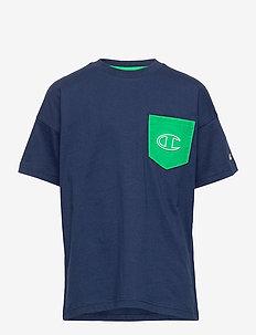 Crewneck T-Shirt - À manches courtes - medieval blue