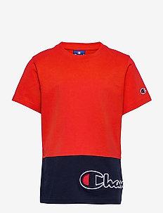 Crewneck T-Shirt - short-sleeved - flame scarlet