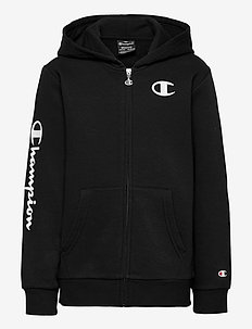 Hooded Full Zip Sweatshirt - kapuzenpullover - black beauty