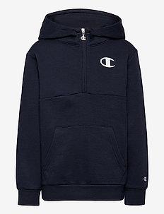 Hooded Half Zip Sweatshirt - hettegensere - sky captain