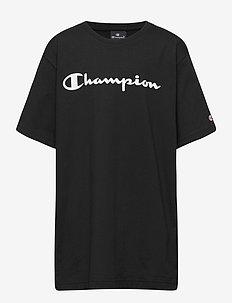 Crewneck T-Shirt - kortärmade - black beauty