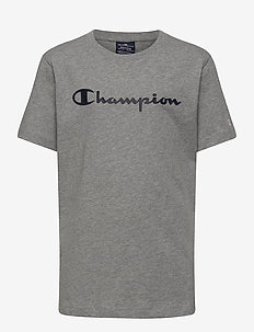 Crewneck T-Shirt - kurzärmelige - gray melange light