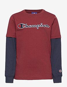 Long Sleeve Crewneck T-Shirt - langärmelige - cabernet