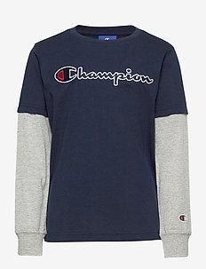 Long Sleeve Crewneck T-Shirt - langärmelige - navy blazer