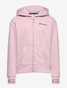 Hooded Full Zip Sweatshirt - VIOLET ICE