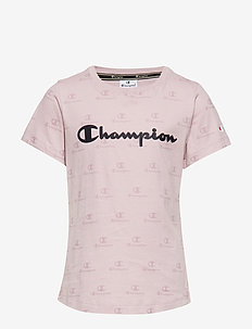 Crewneck T-Shirt - kurzärmelige - violet ice al (vit) a