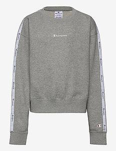 Crewneck Croptop - sweatshirts - gray melange light