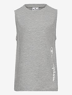 Tank Top - sleeveless - gray melange light