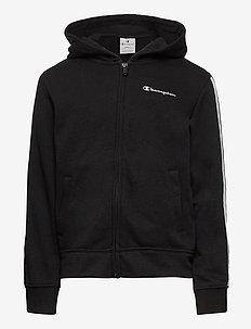Hooded Full Zip Sweatshirt - hoodies - black beauty