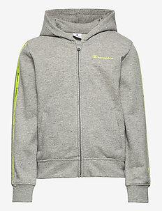 Hooded Full Zip Sweatshirt - pulls à capuche - gray melange light
