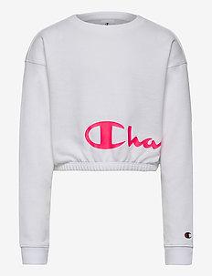 Crewneck Croptop - sweatshirts - white
